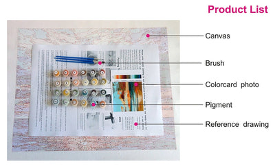 Custom Printed Paint by Numbers Kit