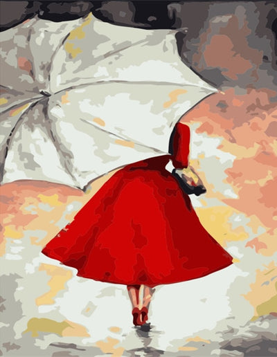 Under an Umbrella - Paint By Numbers Kit