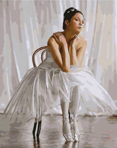Ballerina Waiting - Paint By Numbers Kit