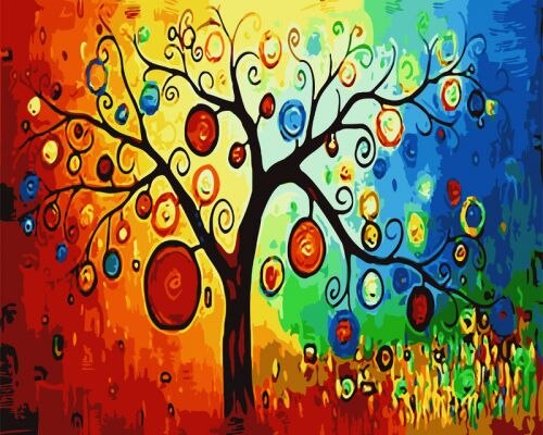 Jewel Tree - Paint By Numbers Kit