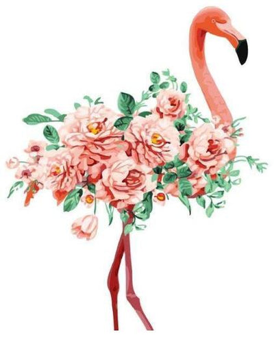 Flowers Flamingos - Paint By Numbers Kit