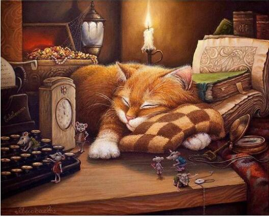 Sleeping Cat - Paint By Numbers Kit