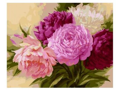 Pink Flowers - Paint by Numbers Kit