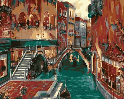 Aqua Venice Canal  - Paint By Numbers Kit