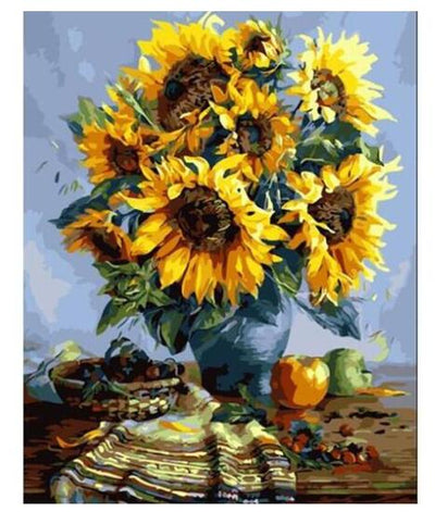 Grandma's Sunflowers - Paint by Numbers Kit