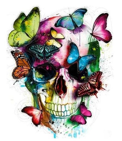 Butterfly Skull - Paint By Numbers Kit
