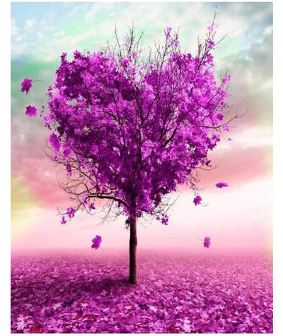 Purple Heart Tree - Paint By Numbers Kit
