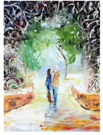 Couple Dating in the Park - Paint By Numbers Kit