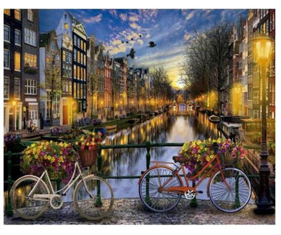 Canals of Amsterdam - Paint By Numbers Kit