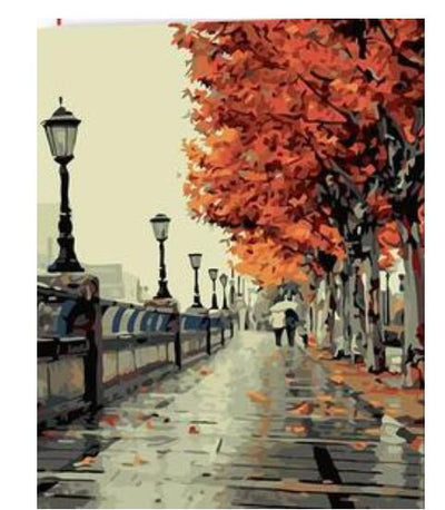Autumn Streets - Paint By Numbers Kit