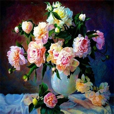 Bouquet of Roses in Vase - Diamond Painting Kit