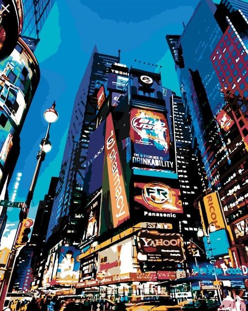 Times Square Night - Paint By Numbers Kit