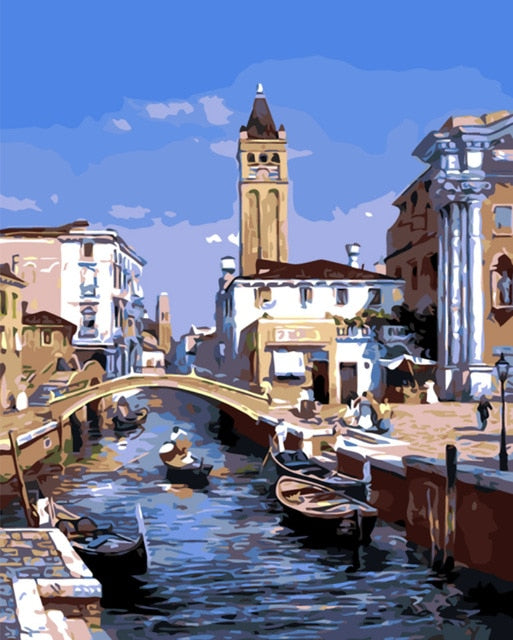 Venice Day - Paint By Numbers Kit