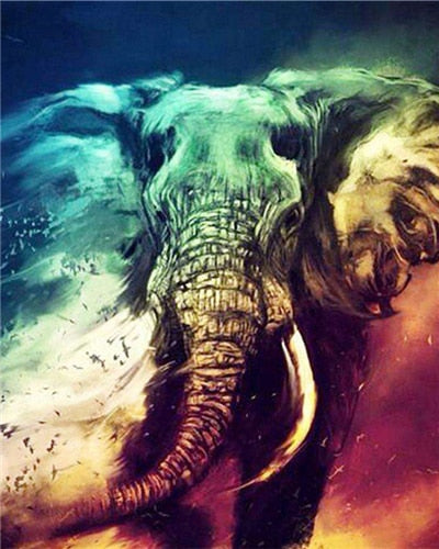 Majestic Elephant - Paint By Numbers Kit