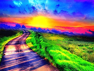 Rainbow Roadway - Diamond Painting Kit