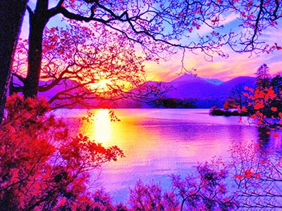 Purple Lake - Diamond Painting Kit