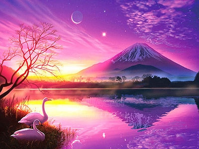 Mt Fuji - Diamond Painting Kit