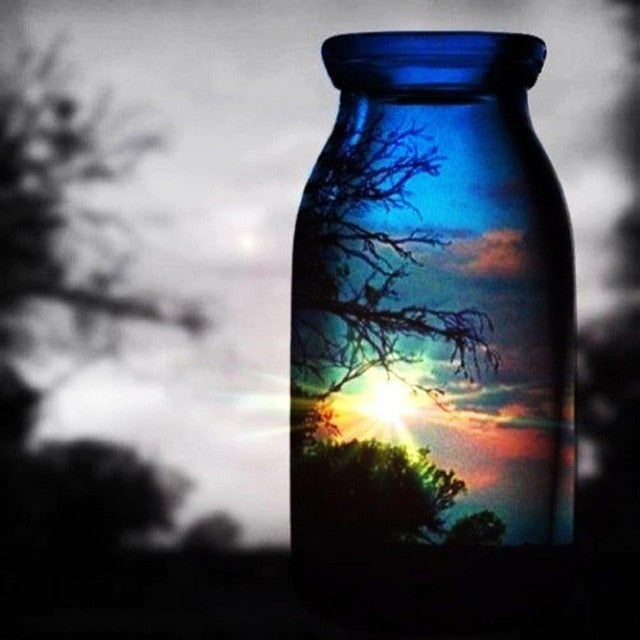 Landscape in a Jar - Diamond Painting Kit
