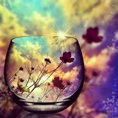 Wildflowers in a Glass - Diamond Painting Kit