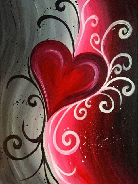Whimsical Heart - Diamond Painting Kit