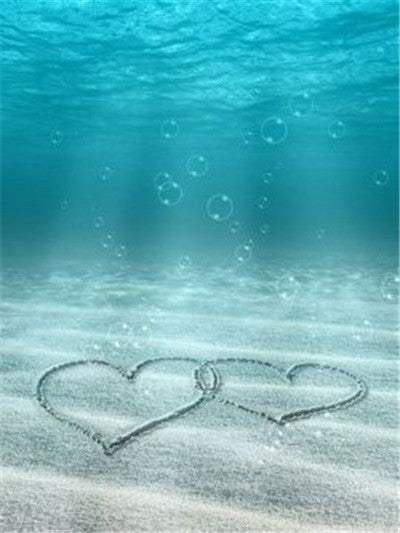 Underwater Hearts in Sand - Diamond Painting Kit