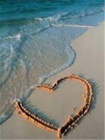 Sand Heart on Shore - Diamond Painting Kit