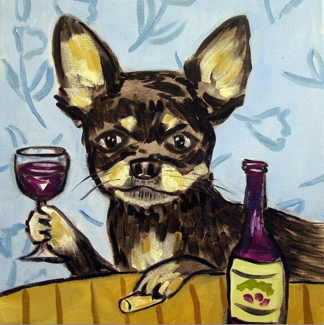 Chihuahua Vino - Diamond Painting Kit