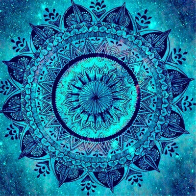 Mandala Blue - Diamond Painting Kit