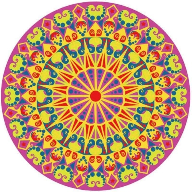 Mandala Fuschia Yellow - Diamond Painting Kit