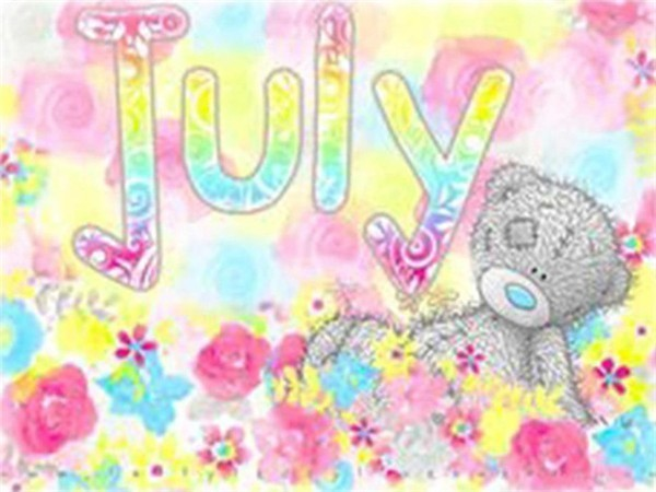 July - Diamond Painting Kit