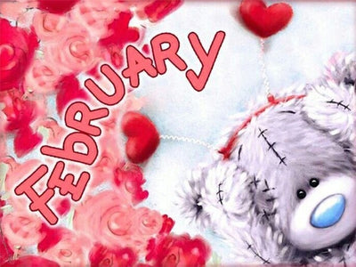 February - Diamond Painting Kit