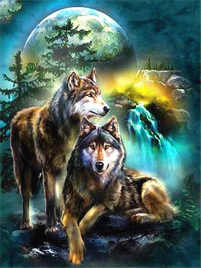 Wolves 1 - Diamond Painting Kit