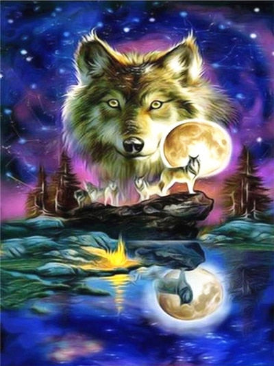Wolves 2 - Diamond Painting Kit