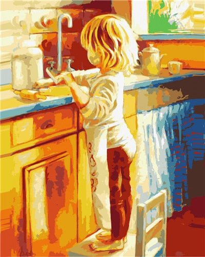 Little Chef - Paint By Numbers Kit
