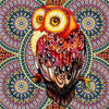 Red Owl Mandala - Diamond Painting Kit