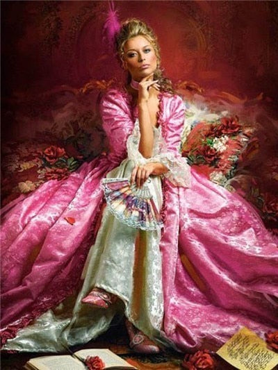 Woman in Pink Gown - Diamond Painting Kit