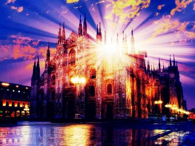 Milan Cathedral Reflection - Diamond Painting Kit