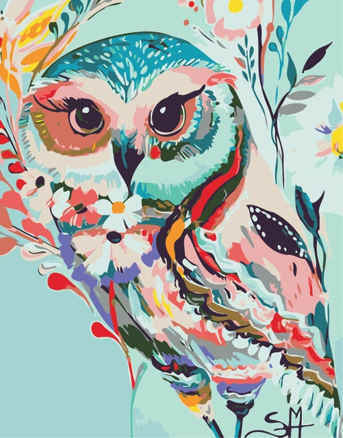 Watercolor Owl - Paint By Numbers Kit