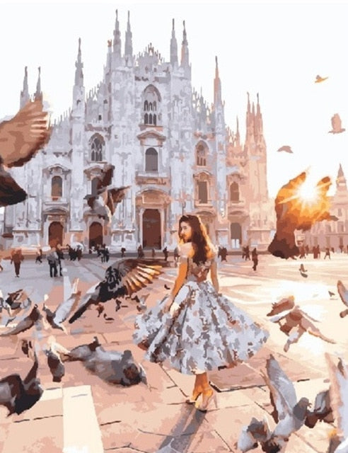 Girl in Milan - Paint By Numbers Kit