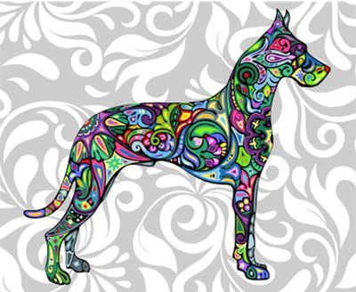 Hippie Great Dane - Paint By Numbers Kit