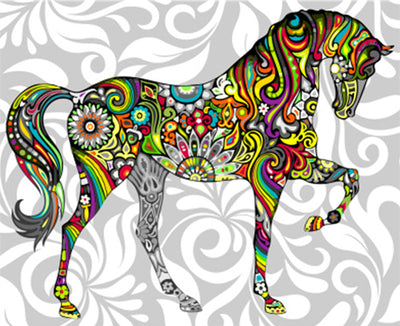 Hippie Horse - Paint By Numbers Kit