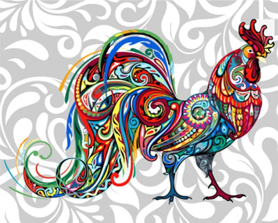 Hippie Rooster - Paint By Numbers Kit