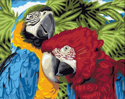 Tropical Parrots - Paint By Numbers Kit