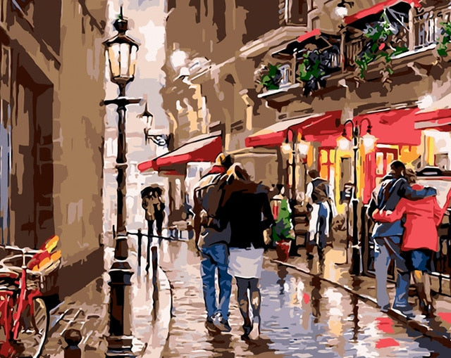 Stroll in Paris  - Paint By Numbers Kit
