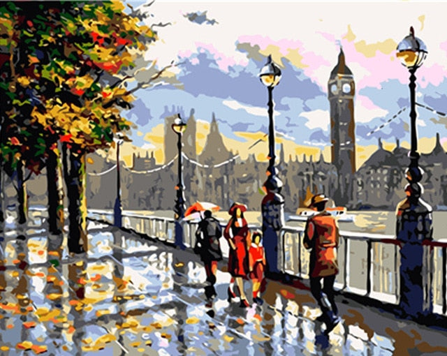 Thames walk  - Paint By Numbers Kit