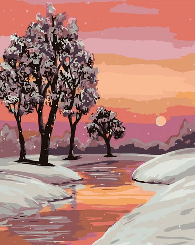Trees on Snowy River - Paint By Numbers Kit