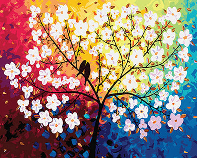 Birds and Blossoms - Paint By Numbers Kit