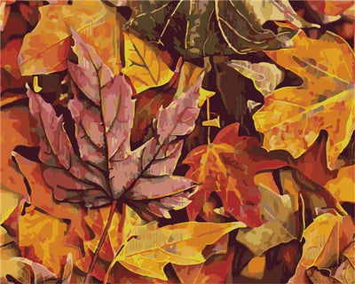 Fall Leaves - Paint By Numbers Kit