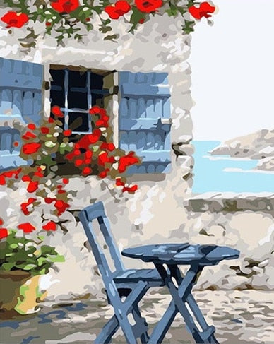 Blue Cafe - Paint By Numbers Kit