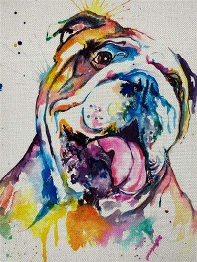 Colorful Bulldog  - Diamond Painting Kit